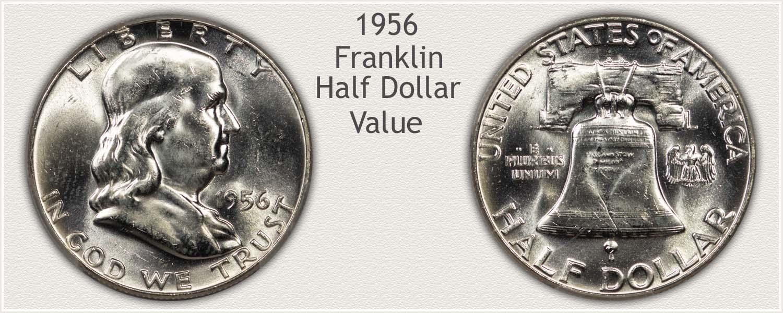 1956 Half Dollar - Franklin Half Series - Obverse and Reverse View