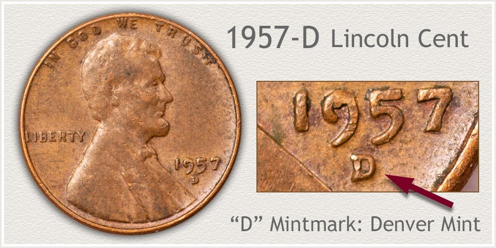 1957-D Lincoln Penny