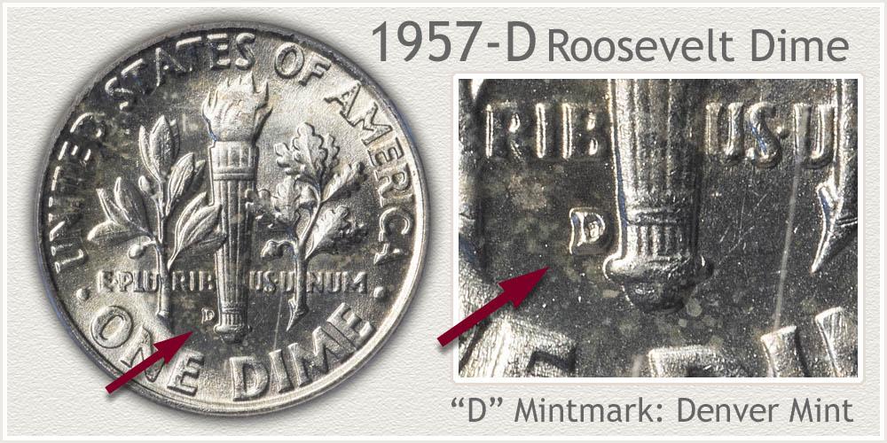 1957-D Roosevelt Dime
