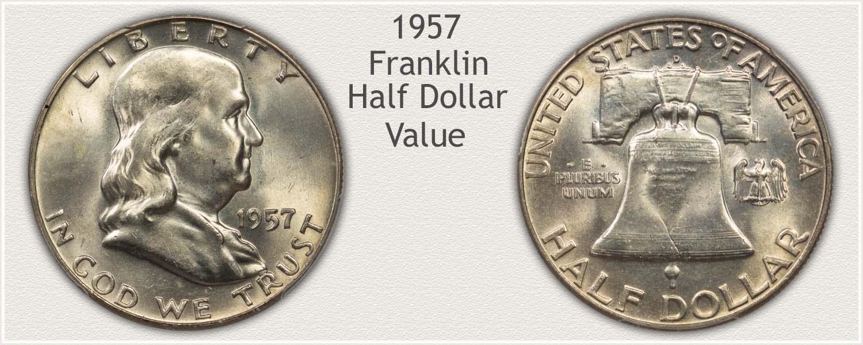 1957 Half Dollar - Franklin Half Series - Obverse and Reverse View