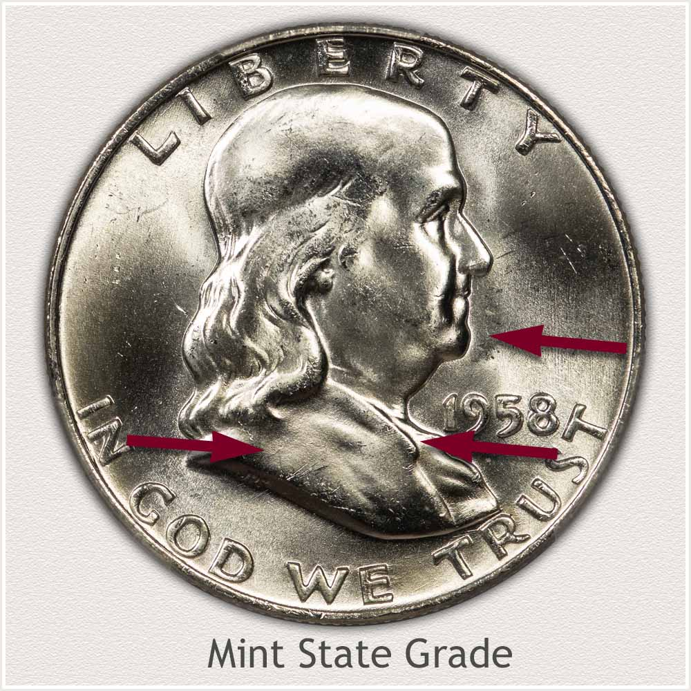 1958 Franklin Half Dollar Mint State Grade