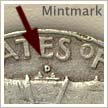 Mintmark Location 1958 Franklin Half Dollar