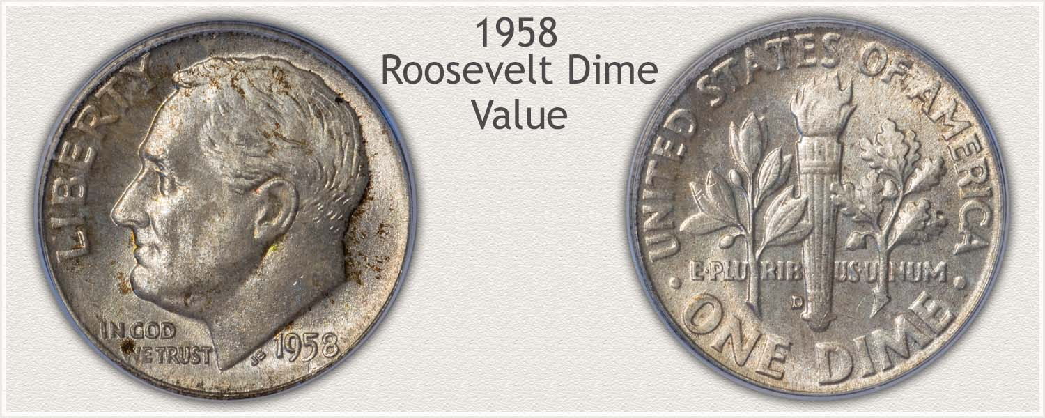 1958 Roosevelt Dime - Obverse and Reverse