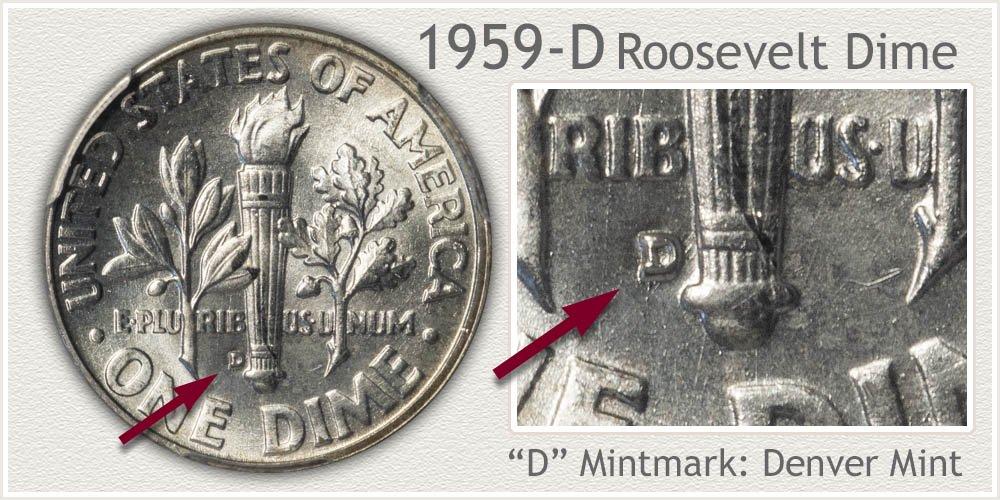 1959-D Roosevelt Dime