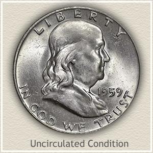 1959 Franklin Half Dollar Uncirculated Condition