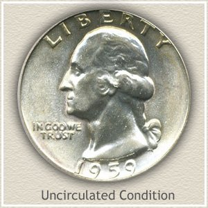 1959 Quarter Uncirculated Condition