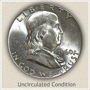 1960 Franklin Half Dollar Uncirculated Condition