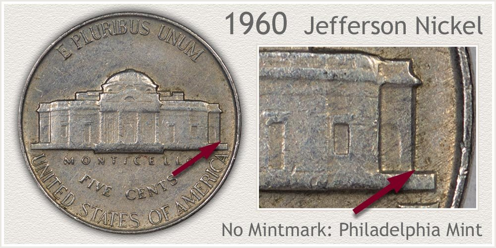 1960 Jefferson Nickel