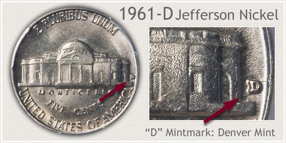 1961-D Jefferson Nickel
