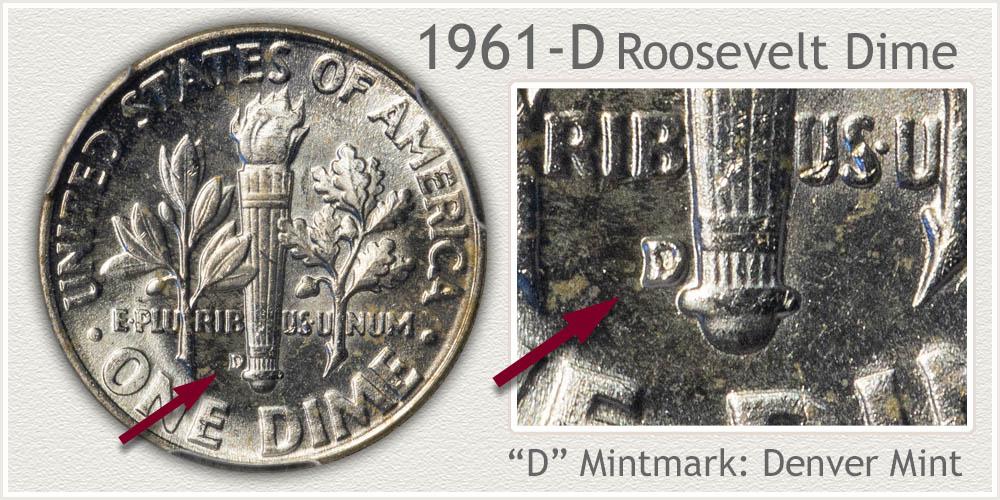 1961-D Roosevelt Dime
