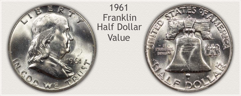 1961 Half Dollar - Franklin Half Series - Obverse and Reverse View