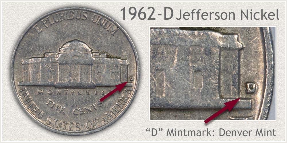 1962-D Jefferson Nickel