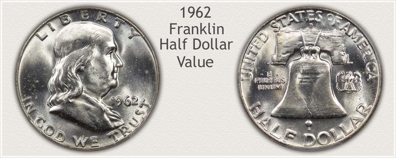 1962 Half Dollar - Franklin Half Series - Obverse and Reverse View