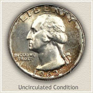 1962 Quarter Uncirculated Condition
