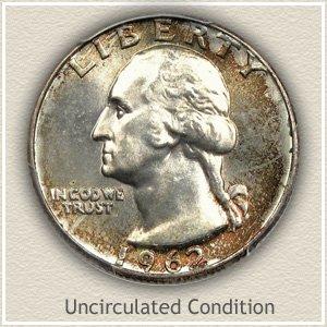 1962 Quarter Uncirculated Condition