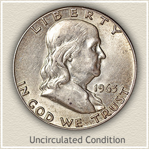 1963 Franklin Half Dollar Uncirculated Condition