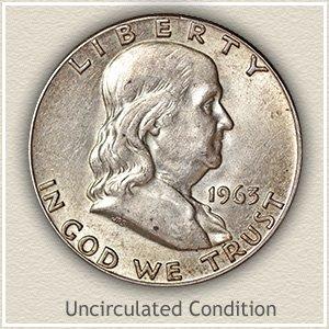 1963 Franklin Half Dollar Uncirculated Condition