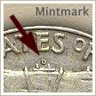 Mintmark Location 1963 Franklin Half Dollar