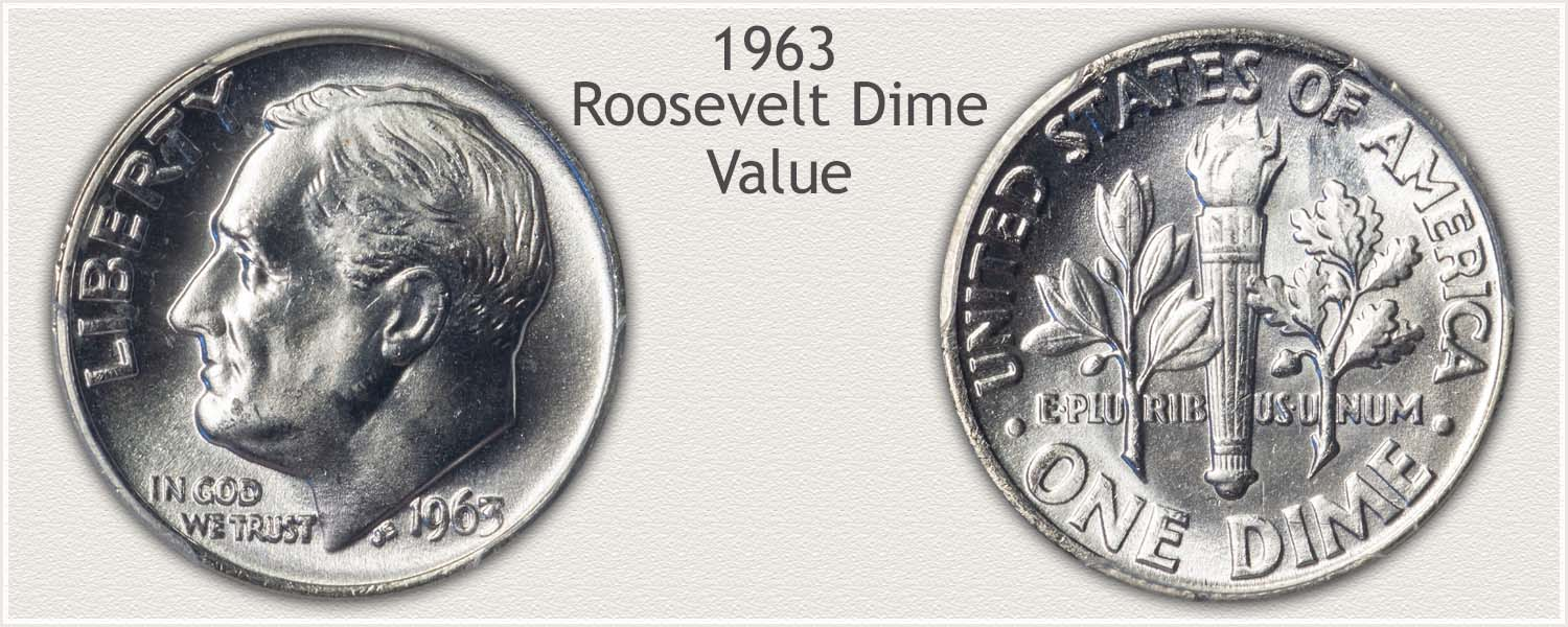 1963 Roosevelt Dime - Obverse and Reverse
