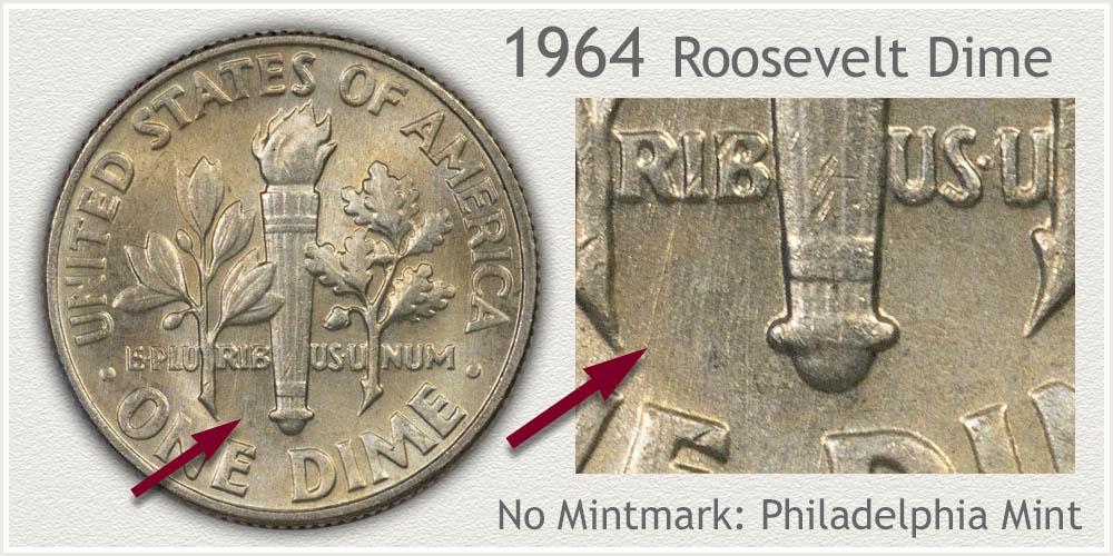 1964 Roosevelt Dime