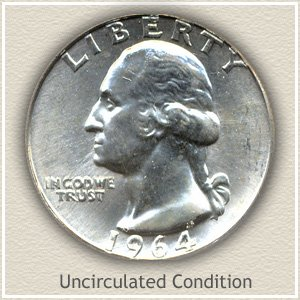 1964 Quarter Uncirculated Condition