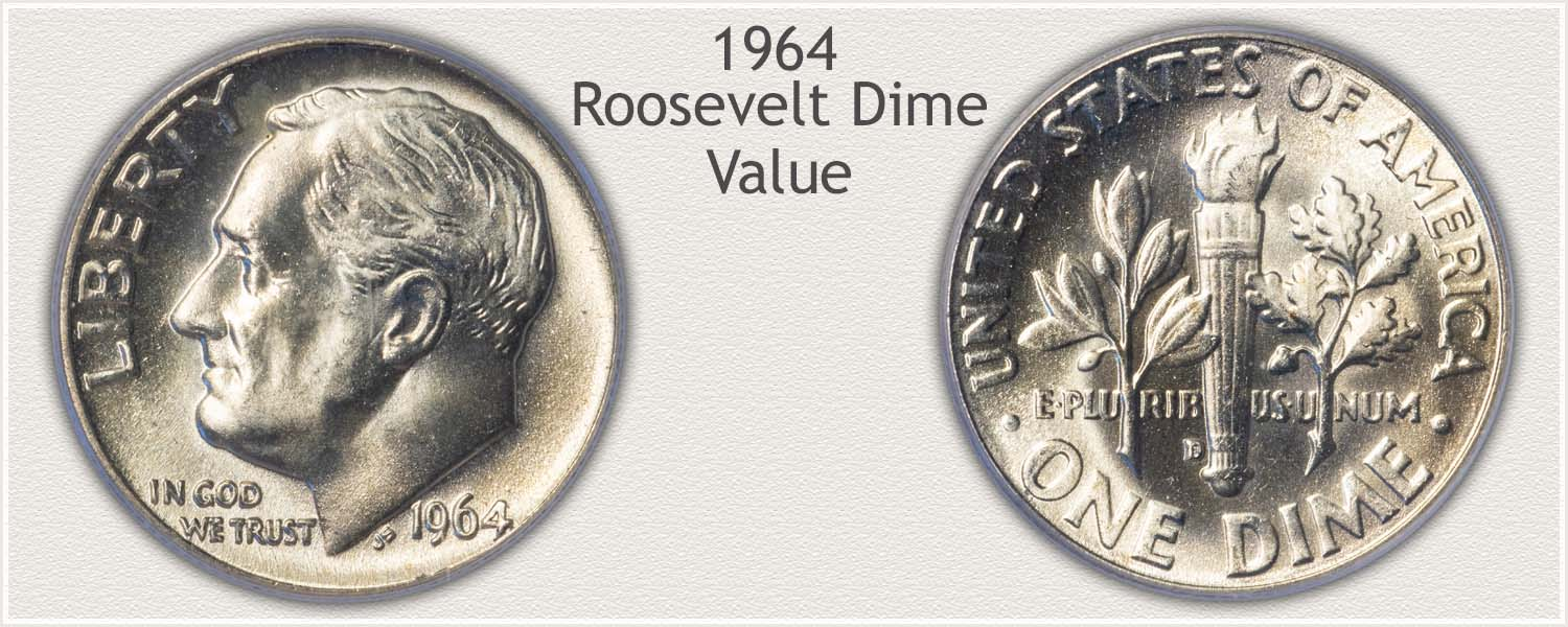 1964 Roosevelt Dime - Obverse and Reverse
