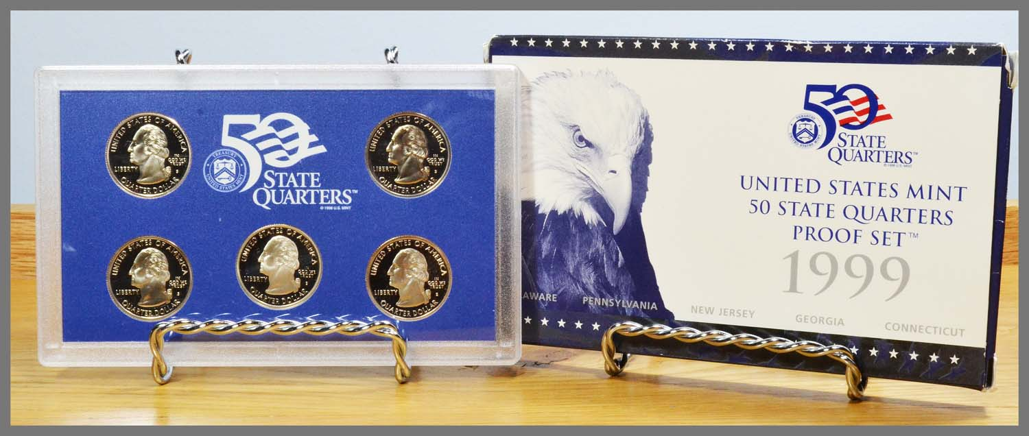 1999 State Quarter Proof  set and Box