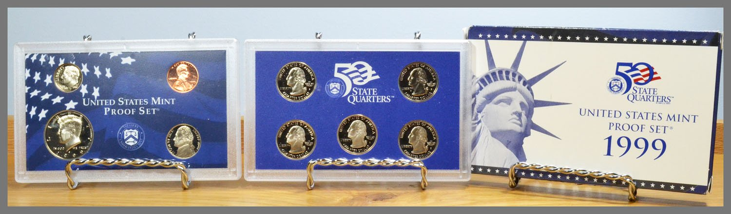 1999 9-Coin Proof Set and Box
