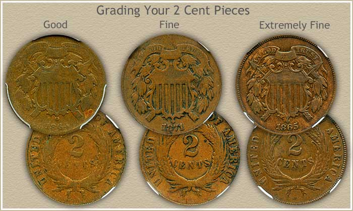 2 Cent Coin Grading