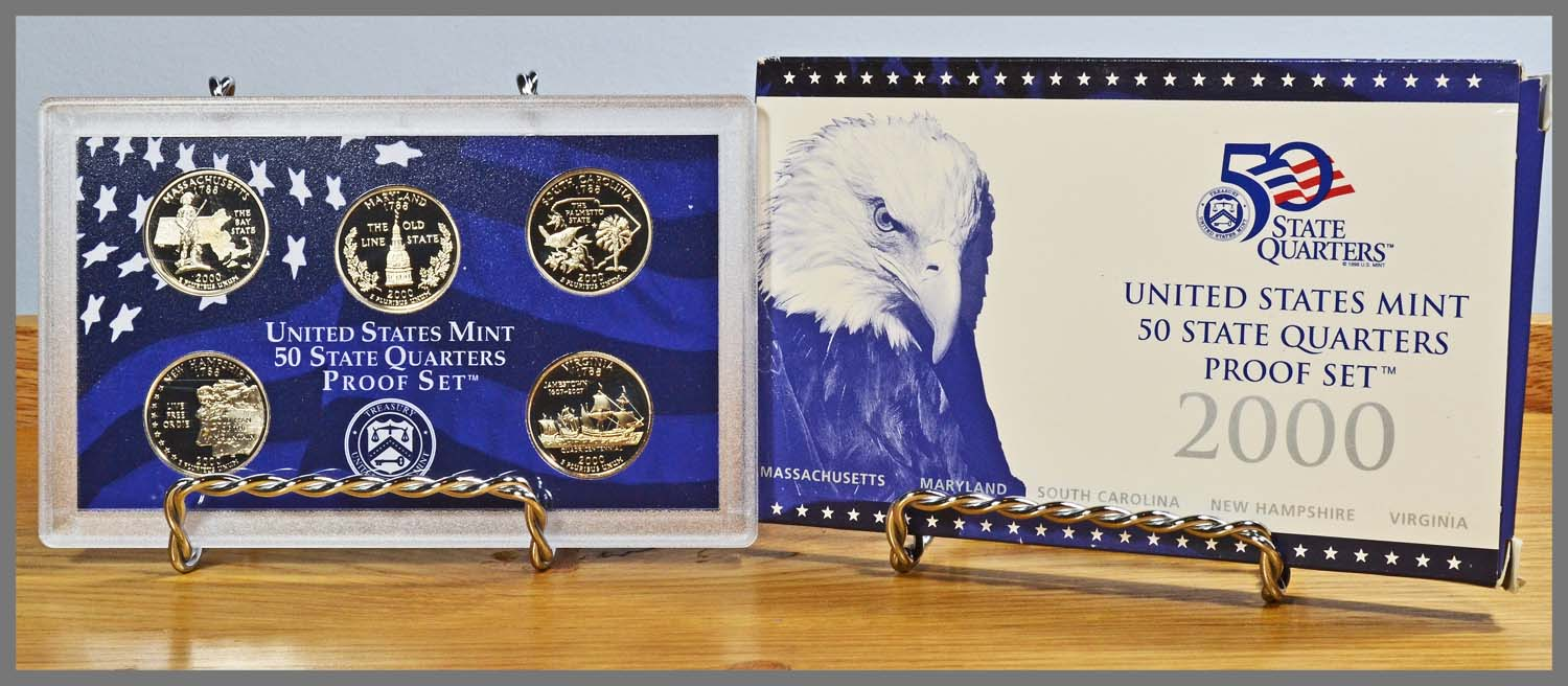 2000 5 Coin State Quarter Proof Set