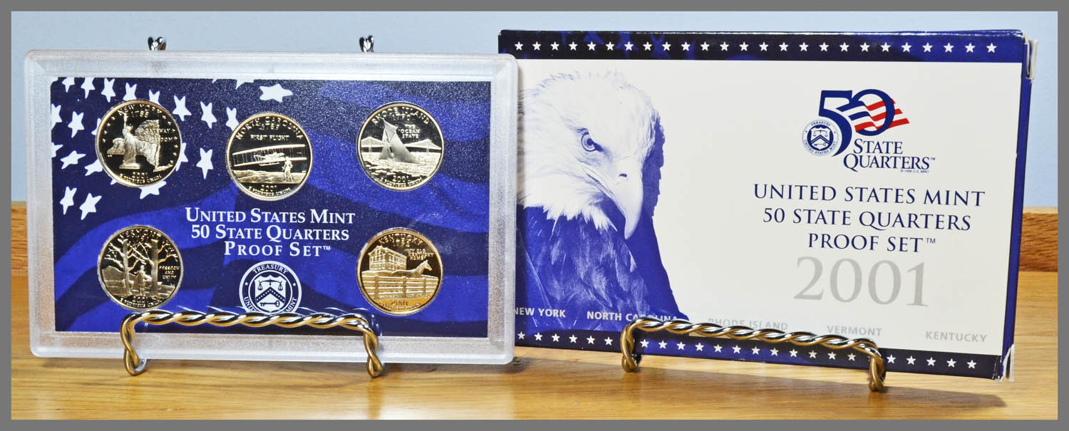2001 5-Coin State Quarters Proof Set