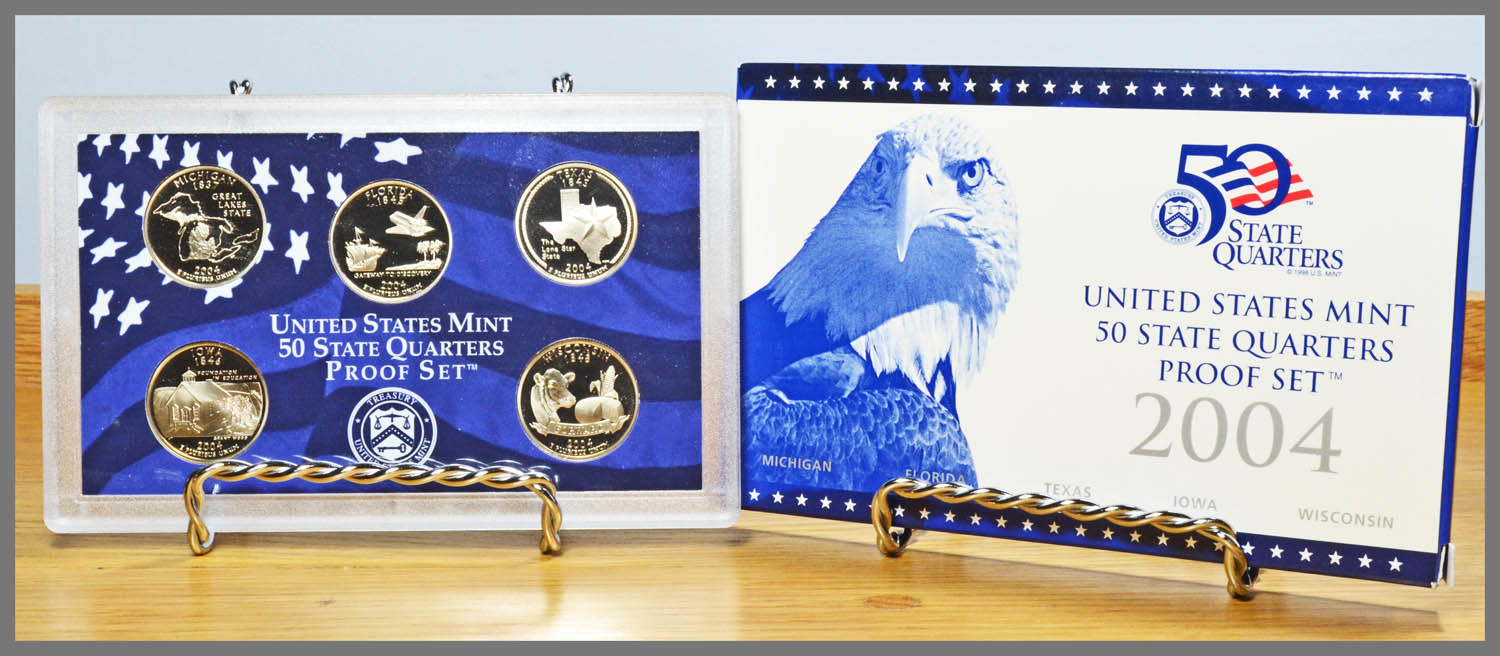 2004 5-Coin State Quarter Proof Set and Package