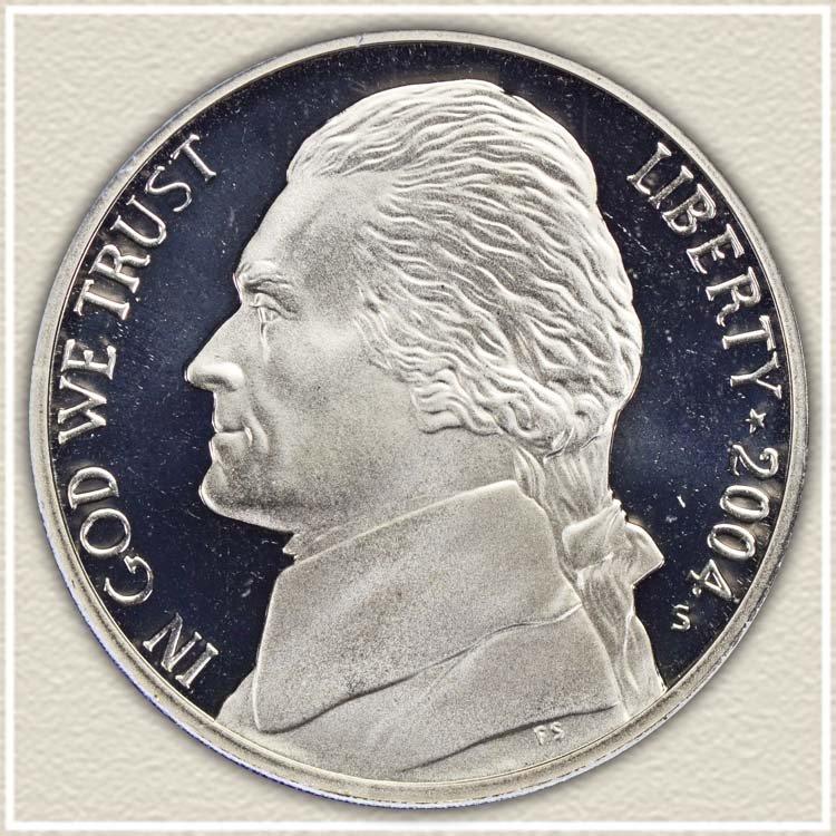 Obverse 2004 Peace Medal Nickel