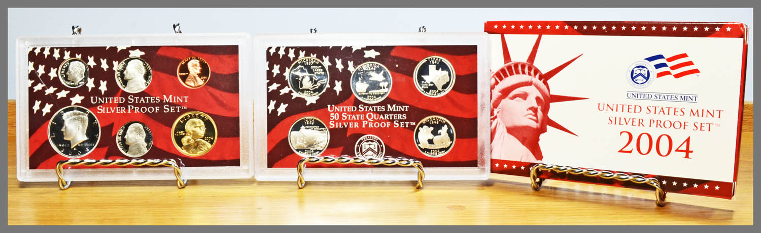2004 Silver 11-Coin Proof Set and Package