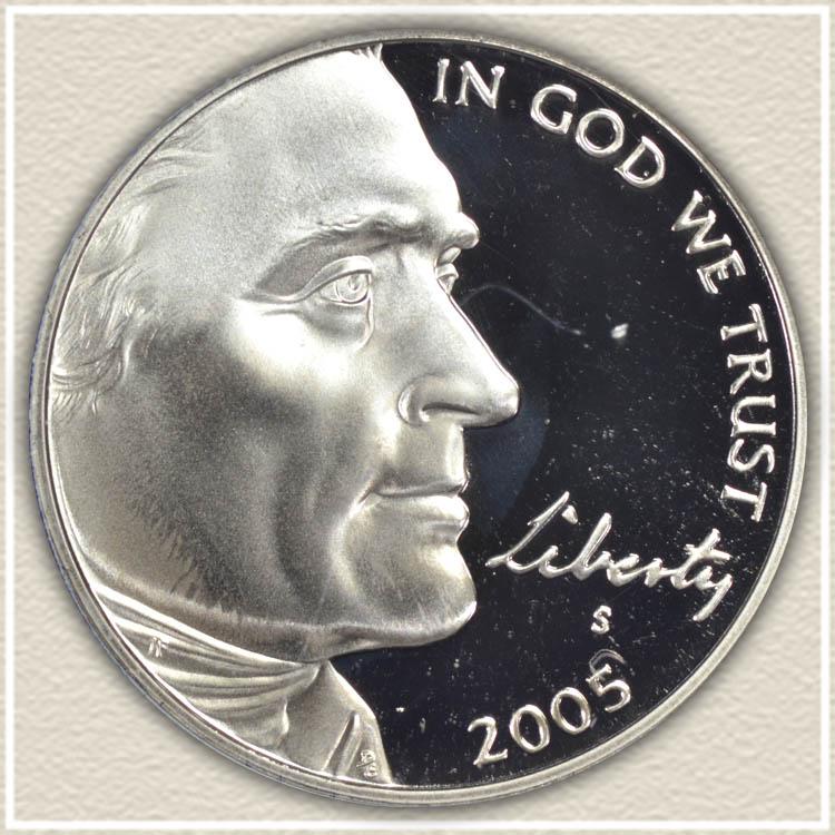 2005 American Bison Nickel Obverse