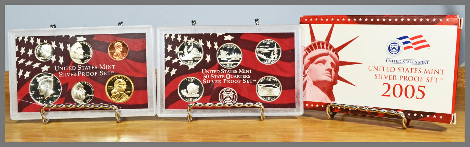 2005 Silver 11-Coin Proof Set and Package
