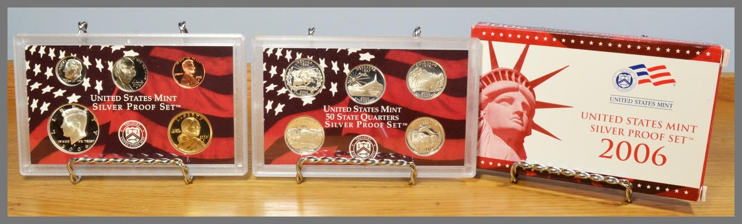 2006 Silver 10-Coin Proof Set and Packaging