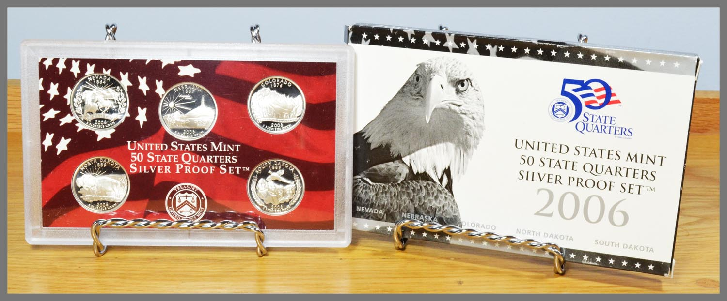 2006 Silver 5-Coin State Quarter Proof Set and Package