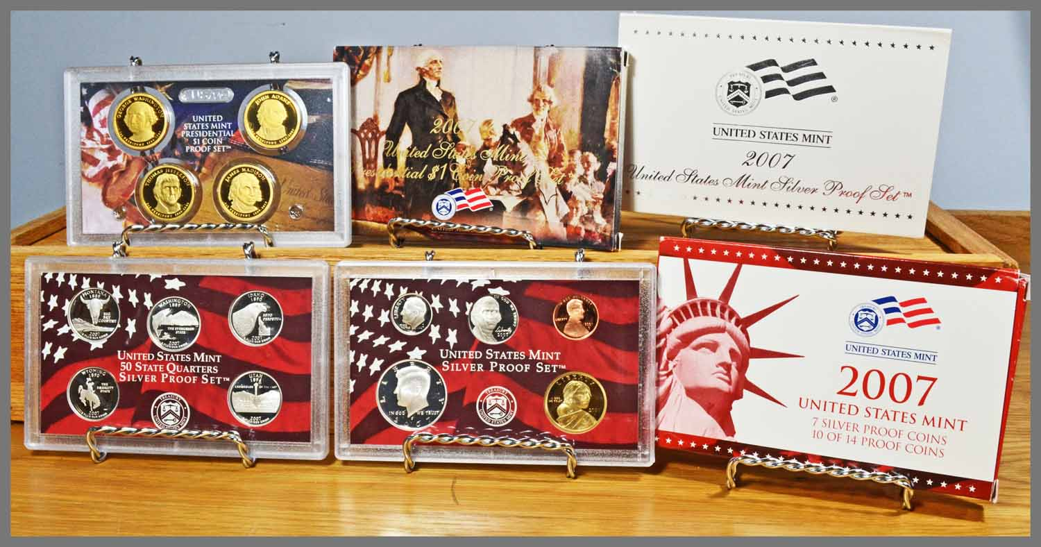 2007 Silver 14-Coin Proof Set and Package