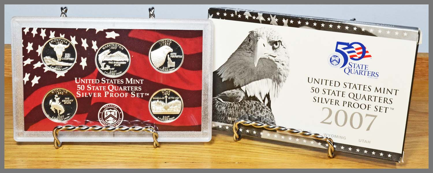 2007 Silver State Quarter Proof Set and Package