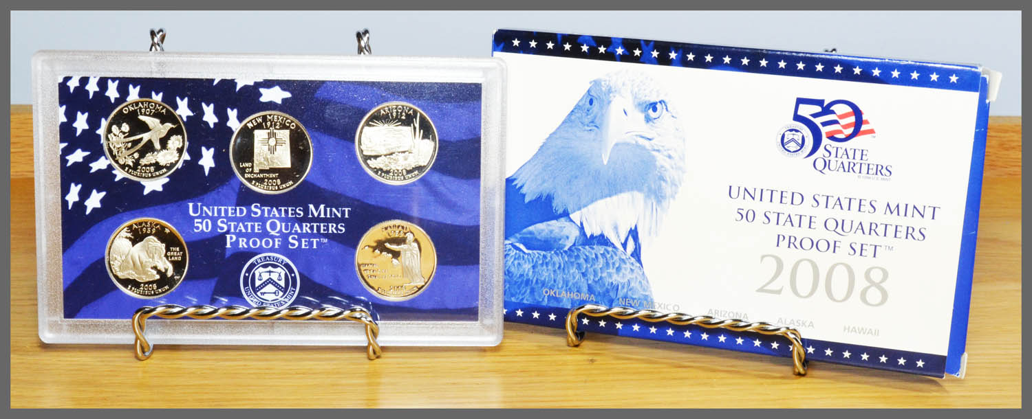 2008 State Quarter Proof Set and Package
