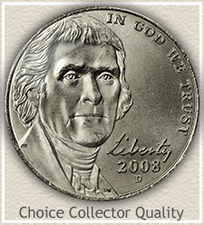 Choice 2008-D Jefferson Nickel