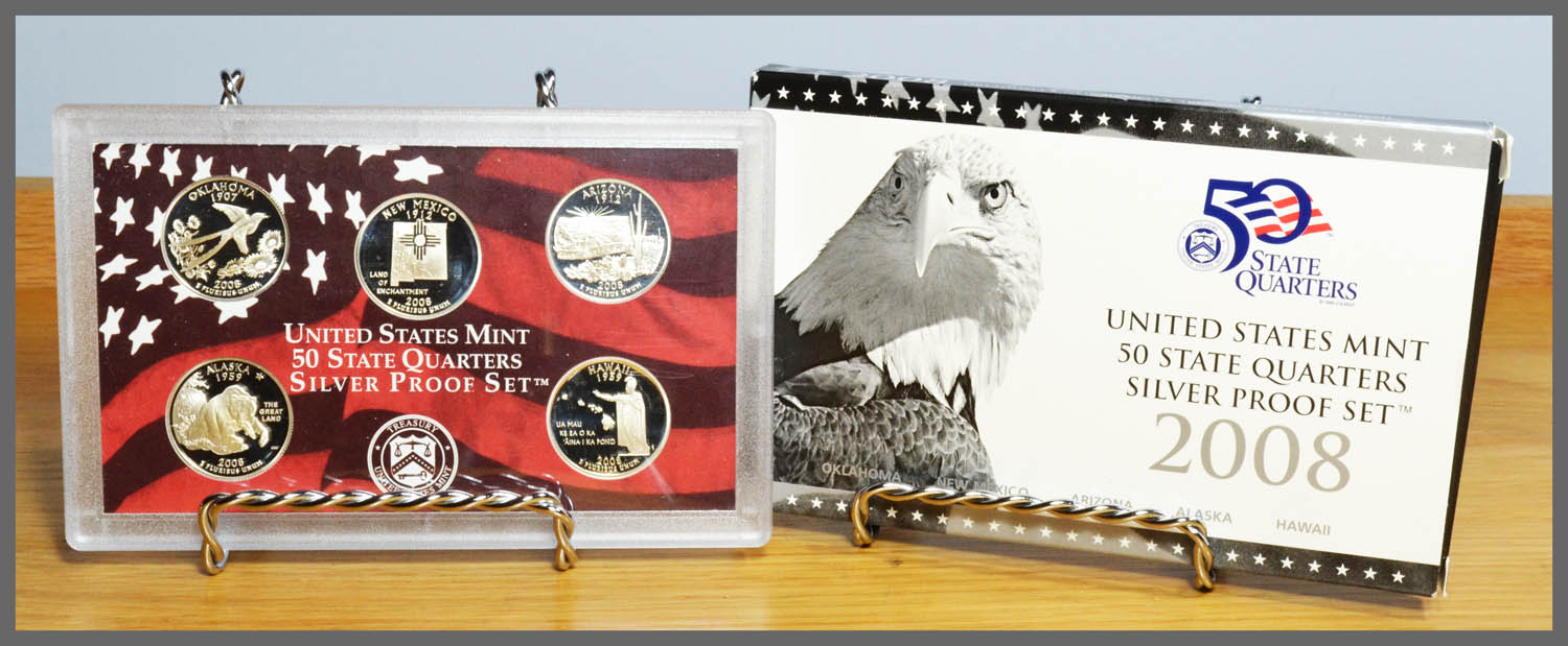 2008 Silver State Quarter Proof Set and Package