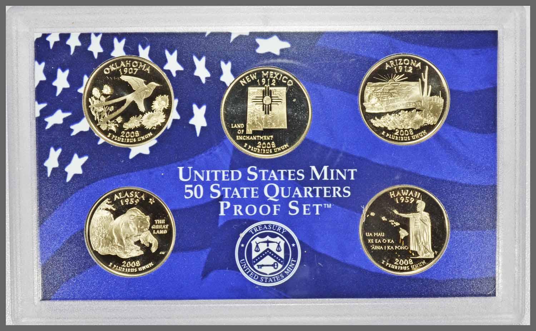 2008 State Quarter Set Close-Up