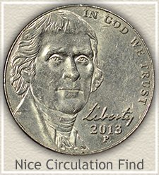 Nice 2013-P Jefferson Nickel