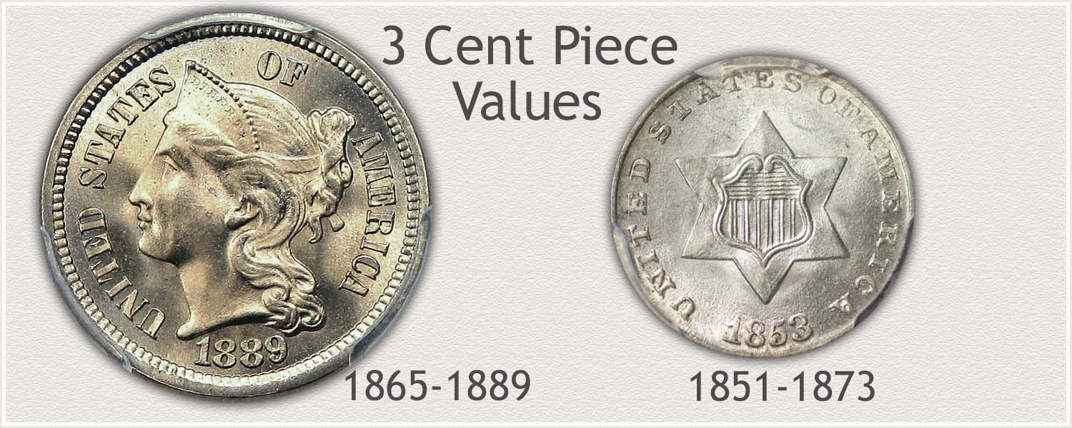 Examples 3-Cent Silver and 3-Cent Nickel Coin Series