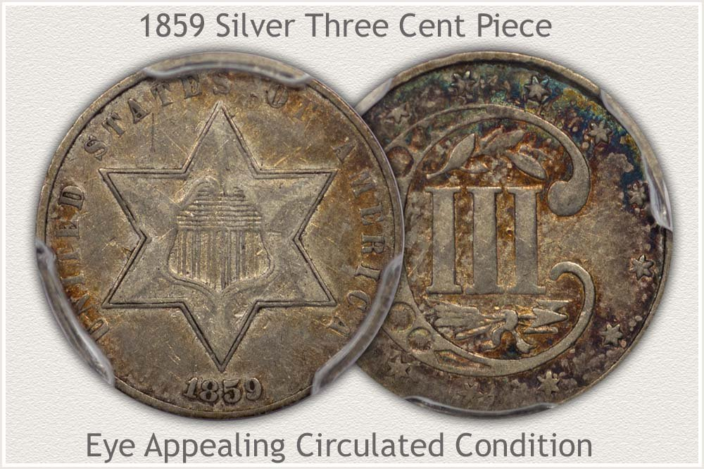 Circulated 3 Cent Silver Variety