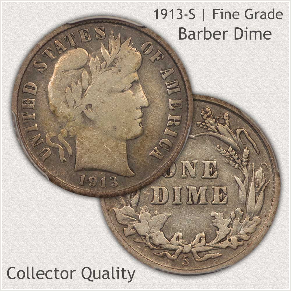 Collector Quality 1913 Barber Dime