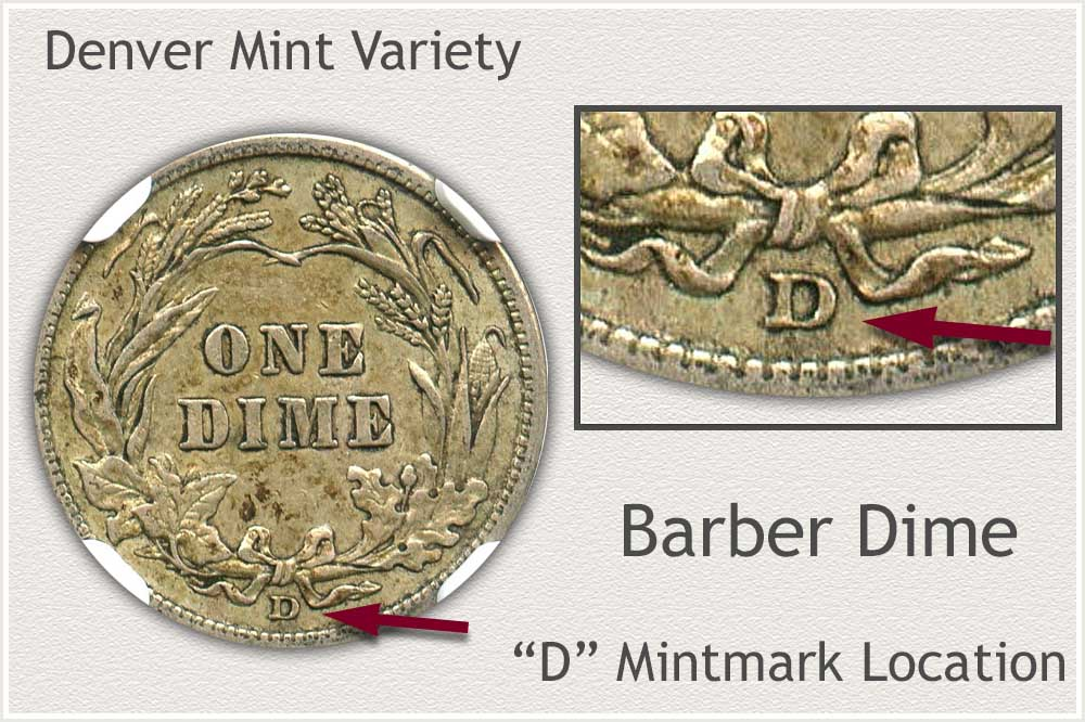 Denver Mint Barber Dime