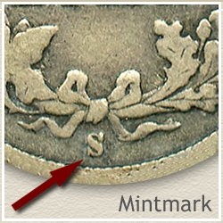 Barber Dime Mintmark Location